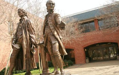 George Wythe and John Marshall welcome you to William & Mary Law School.
