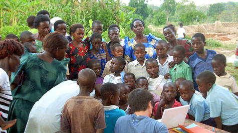 Children and parents in Buwasa