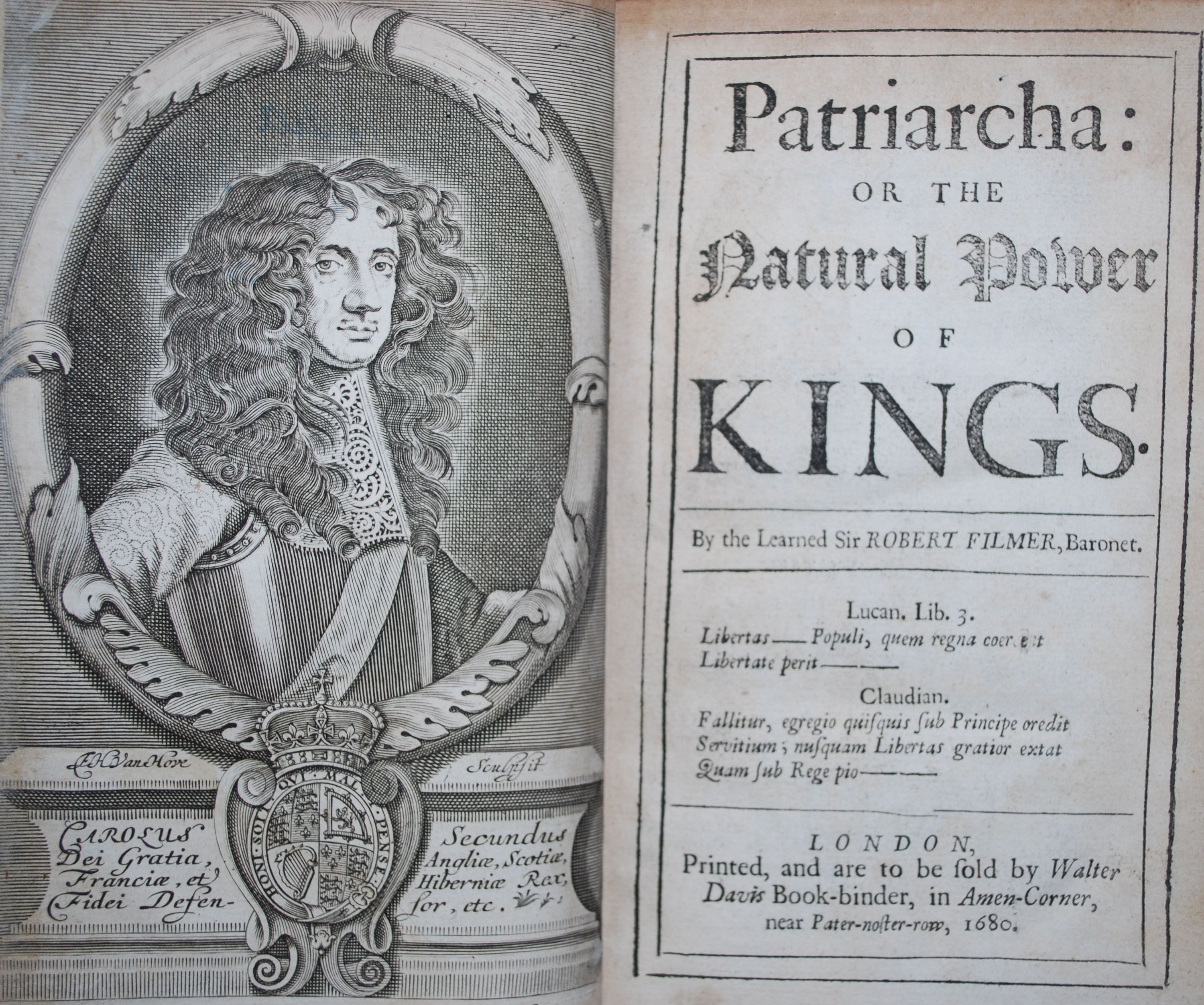 Patriarcha Or The Natural Power Of Kings William Amp Mary